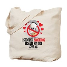 Stopped Smoking Kids Tote Bag
