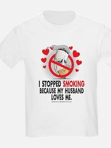 Stopped Smoking Husband T-Shirt
