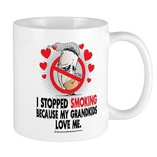Stopped Smoking Grandkids Mug