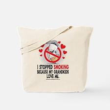 Stopped Smoking Grandkids Tote Bag