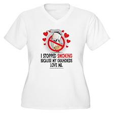 Stopped Smoking Grandkids T-Shirt
