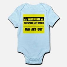 Thespian At Work Infant Bodysuit