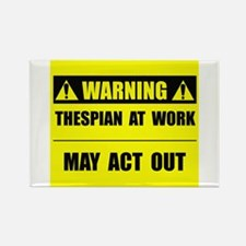 Thespian At Work Rectangle Magnet (10 pack)