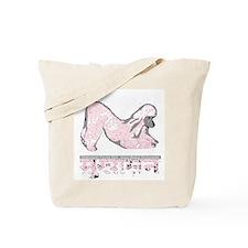 Pink Poodle Yoga Tote Bag