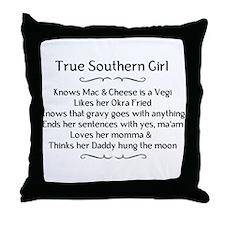 True Southern Girl Throw Pillow