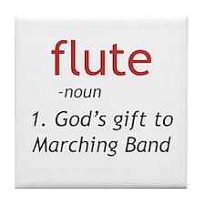 Flute Definition Tile Coaster