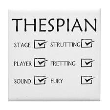 Thespian Checklist 2 Tile Coaster