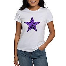 Purple Leopard Print Star Tee