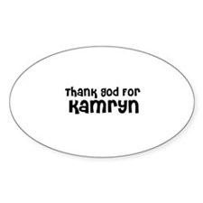 Thank God For Kamryn Oval Decal