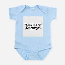 Thank God For Kamryn Infant Creeper