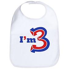 I'm Three Bib