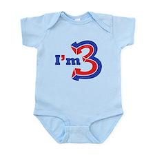 I'm Three Infant Bodysuit