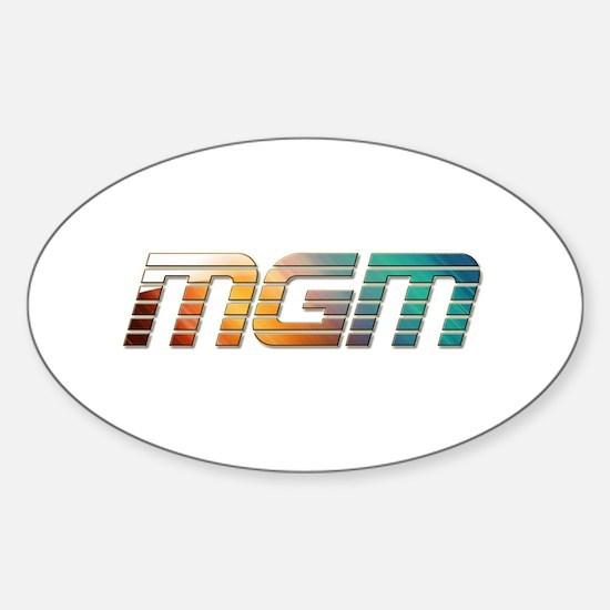 MGM Sticker (Oval)