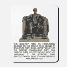 Lincoln on Revolutionary Right Mousepad