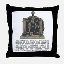 Lincoln on Revolutionary Right Throw Pillow