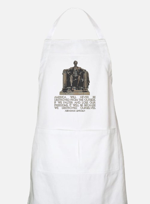 Lincoln: We Destroyed Ourselves Apron