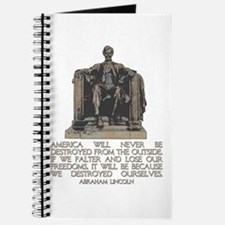 Lincoln: We Destroyed Ourselves Journal