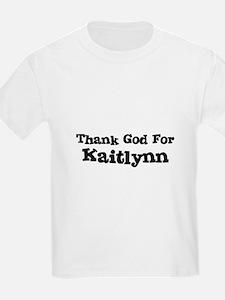 Thank God For Kaitlynn Kids T-Shirt