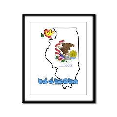 ILY Illinois Framed Panel Print