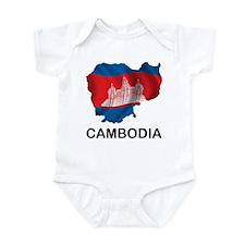 Map Of Cambodia Infant Bodysuit