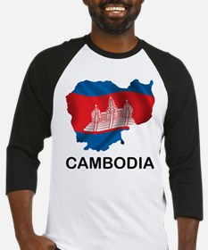 Map Of Cambodia Baseball Jersey