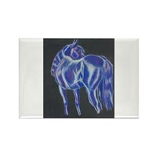 Funny Thoroughbred rescue Rectangle Magnet