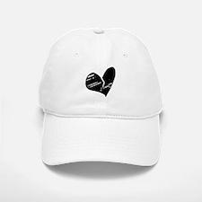 Black Broken Heart Baseball Baseball Cap