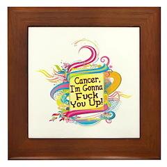 F Up Cancer Framed Tile