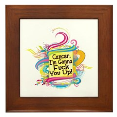 F Up Cancer Framed Tile