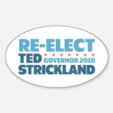 Re-Elect Strickland Sticker (Oval)