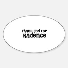 Thank God For Kadence Oval Decal