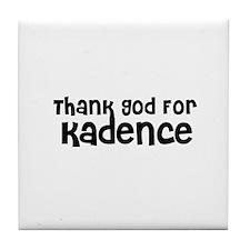 Thank God For Kadence Tile Coaster
