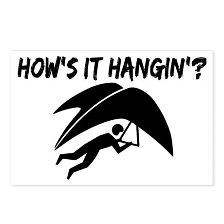 Hang Glider Hangin Postcards (Package of 8)
