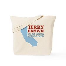Brown California Tote Bag