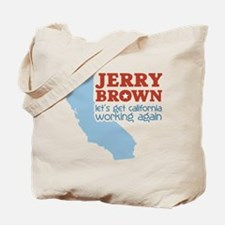 Brown California Tote Bag