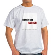 Beware the Radish Logo T-shirt - Gray