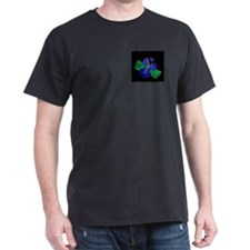 A little cross.... Black T-Shirt