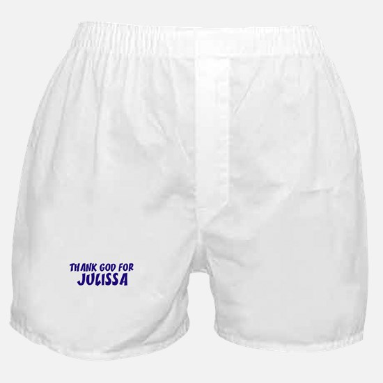 Thank God For Julissa Boxer Shorts