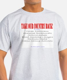 Take our Country back, from T-Shirt