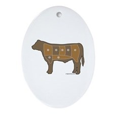 Beef chart Ornament (Oval)