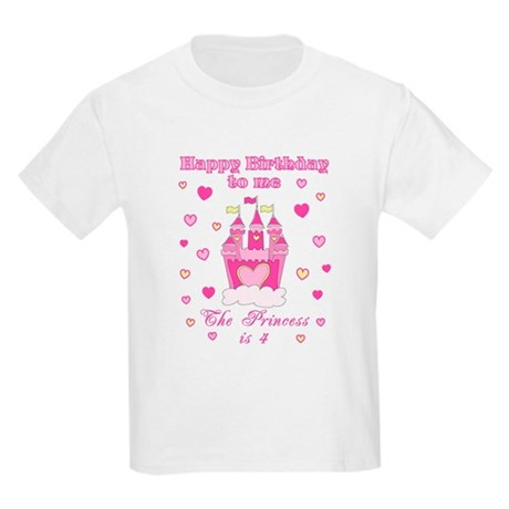 Princess 4th birthday Kids Light T-Shirt
