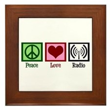 Peace Love Radio Framed Tile