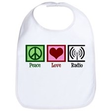 Peace Love Radio Bib