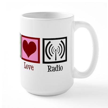 Peace Love Radio Large Mug
