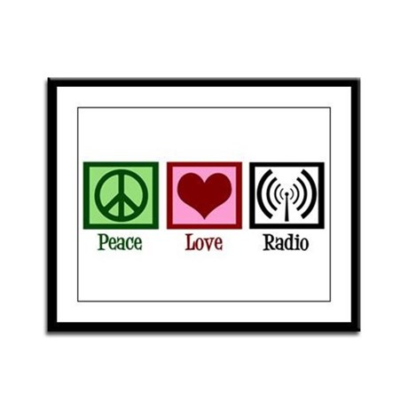 Peace Love Radio Framed Panel Print