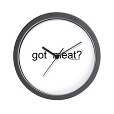 got meat? Wall Clock