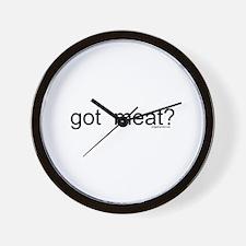 got meat? Wall Clock