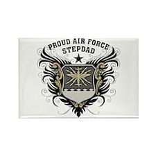 Proud Air Force Stepdad Rectangle Magnet