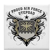 Proud Air Force Stepdad Tile Coaster
