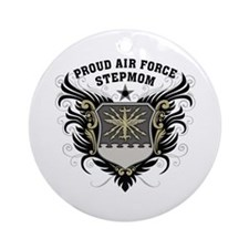 Proud Air Force Stepmom Ornament (Round)